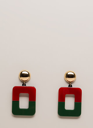 Mod Squad Geometric Cut-Out Earrings