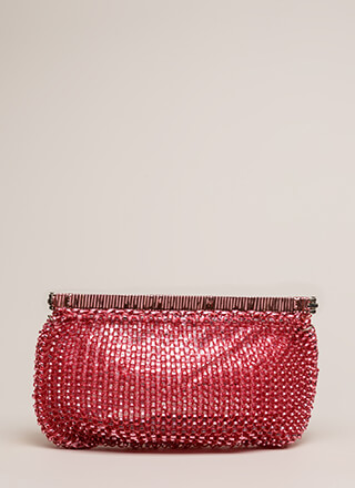 Always In The Loop Woven Clutch