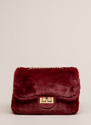 Soft On You Faux Fur Handbag