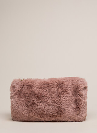 Soft Spot Fluffy Faux Fur Clutch