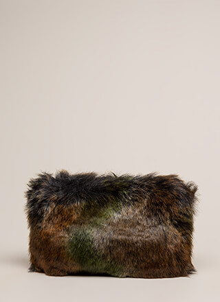 Soft Spot Shaggy Faux Fur Clutch
