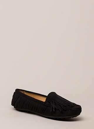 Happy Trails Fringed Moccasin Flats