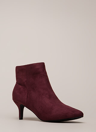 Short Stop Pointy Kitten Heel Booties