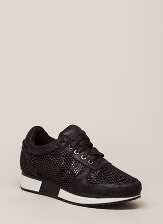 What's The Catch Netted Sneakers