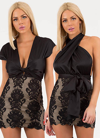 All The Ways Convertible Lace Minidress