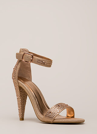 Smashing Jeweled Metallic Heels