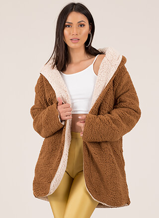 Out Side Reversible Faux Shearling Coat