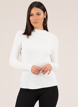 What Wood You Do Ribbed Sweater Top