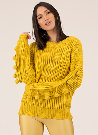 On The Ball Knit Pom-Pom Sweater