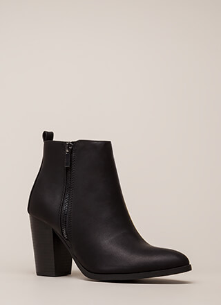 Remind Me Chunky Zipper Booties