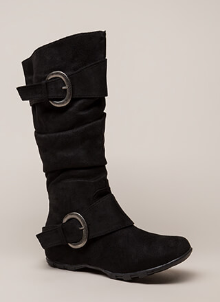 One Two Buckle My Slouchy Boots