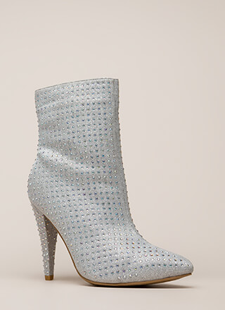 That Wow Factor Rhinestone Booties