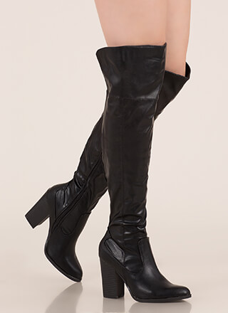 bf761b1bb475 Showcase Faux Leather Thigh-High Boots