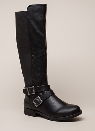 Good Fit Stretchy Strappy Riding Boots