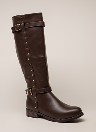 Total Stud Strappy Riding Boots