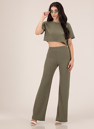 Soft Spoken Fleecy Top And Pant Set
