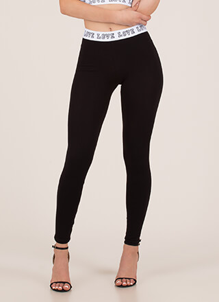 Where Is The Love Graphic Leggings