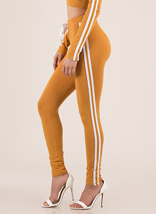 Gotta Run Sporty Striped Leggings
