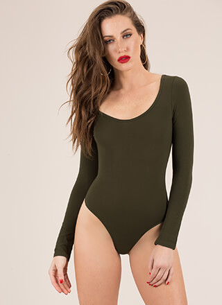 Gimme The Scoop Long-Sleeved Bodysuit