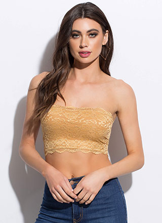 Lace Be Honest Cropped Tube Top