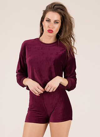 Soft And Velvety 2-Piece Corduroy Set