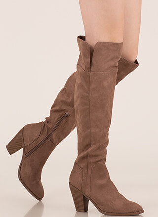 Over The Moon Over-The-Knee Chunky Boots