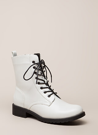 Smooth Things Over Combat Boots