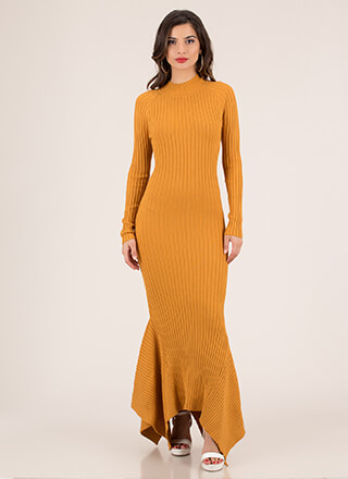 Fish Out Of Water Ribbed Mermaid Maxi