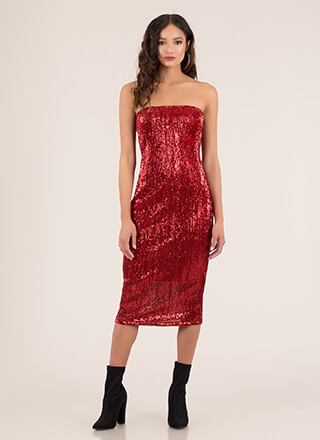 Special Sparkle Sequined Tube Dress
