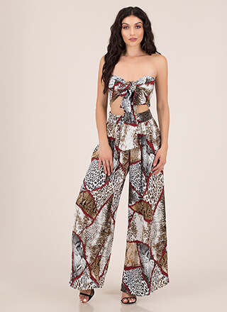 Crowd Goes Wild 2-Piece Palazzo Set
