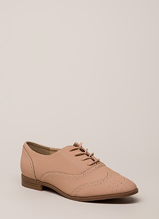 If It's Not Brogue Pinked Oxford Flats