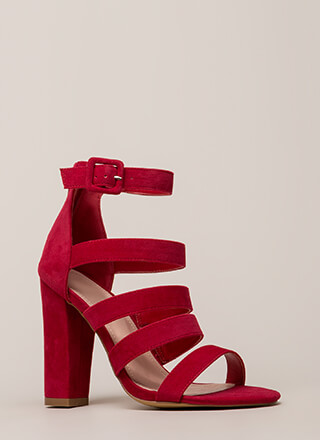 Give Me Five Chunky Strappy Heels