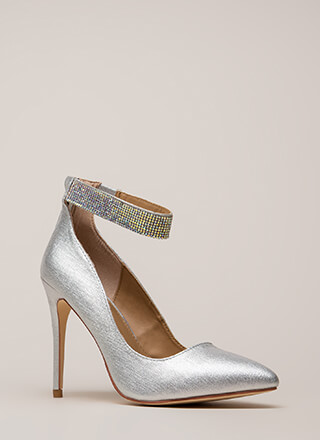 Shining Example Jewel Strap Pumps