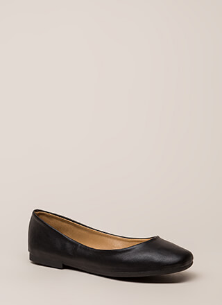 Ground Rules Faux Leather Ballet Flats