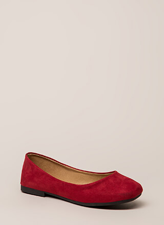 Ground Rules Faux Suede Ballet Flats