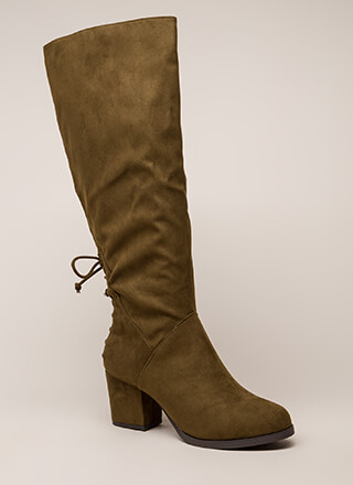 ca1fe44dd63c Come Back Here Chunky Knee-High Boots