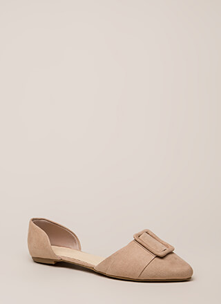 Like A Lady Buckled D'Orsay Flats