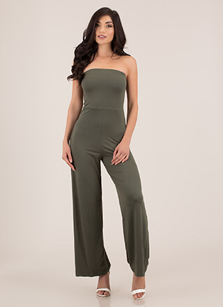It's On Strapless Wide-Leg Jumpsuit
