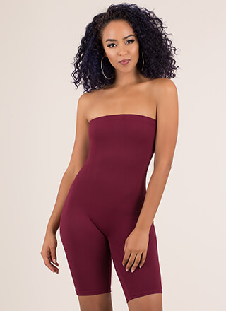 It's All You Strapless Leotard Romper