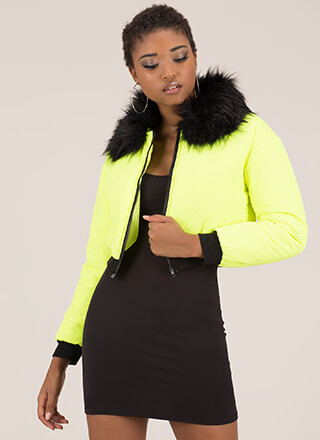 Fur-Ever Yours Puffy Cropped Jacket