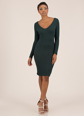 Everything I Want Rib Knit Midi Dress