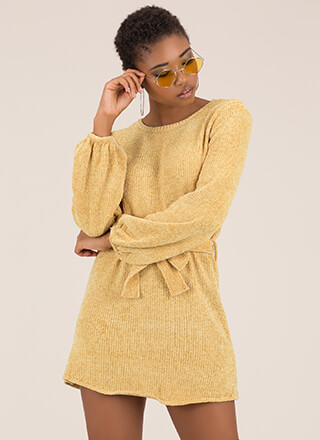 Velvet Ropes Chenille Knit Minidress
