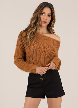 Cozy Up To This Fuzzy Knit Sweater