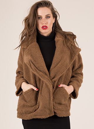 Fleece And Love Faux Shearling Coat