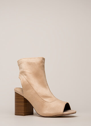 A Cut Above Chunky Peep-Toe Booties