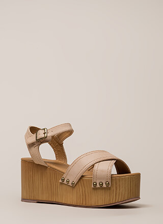 Go Thick Or Go Home Platform Wedges