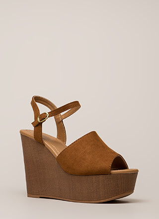 Higher Power Peep-Toe Platform Wedges