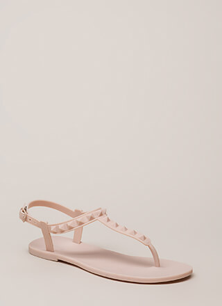 Matte Maker Studded Jelly Sandals