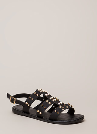 Winning Edge Studded Strappy Sandals