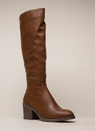 Show Quality Block Heel Riding Boots